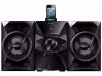 Sony (130W) Mini CD/FM Radio Hi-Fi System with Lightning Connector Dock (Black) MHCEC619IP RRP=£140