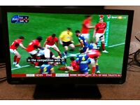 22 inch TOSHIBA LED TV WITH BUILT IN DVD Model 22D1333B