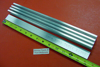 5 Pieces 14 X 34 Aluminum 6061 Flat Bar 14 Long T6511 Solid New Mill Stock