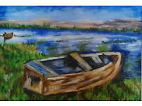 Two boats- painting.