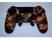 Scuf orange Camo 4p- PS4 Controller - Custom/modded/Scuf Gaming