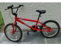 Boys BMX TRAX bike.very good condition, hardly used.3years old.excellent buy for school holidays.