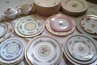 *Vintage plates, dishes and tableware rentals*
