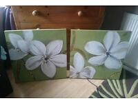 Two matching canvas's