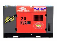 BRAND NEW PROGEN 20KVA DIESEL GENERATOR AUTOMATIC START SYSTEM SOUND PROOF 3 PHASE WATER COOL ENGINE