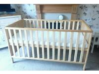 BRAND NEW MOTHERCARE COTBED CONVERTS INTO JUNIOR BED WITH UNUSED MATTRESS BARGAIN AT £50