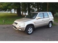 HONDA CRV ES 2001.ONE PREVIOUS OWNER. ONLY 86,285 MILES FROM NEW. MOT JULY 2017.