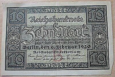 Deutsches Reich 10 Mark Banknote vom 6.Februar 1920 Reichsbanknote
