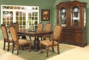 Solid Wood Carved 7 PC Dining Set (ME218)