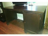 Ikea hemnes desk black/brown