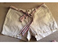 Beige Shorts Size 14 very good condition. 2 pockets Front and back