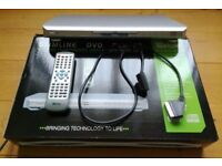 Tevion Vision Slimline DVD Player: TSDVD1300: Boxed: Remote/ Instructions/ Electrical Goods/TV Goods