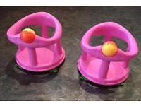 Safety 1st pink bath swivel chairs X 2