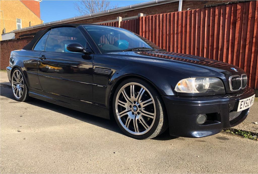 2002 52 bmw e46 m3 convertible carbon black in luton
