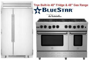 www.aniks.ca 2018 RENOVATION SALE - True 48  Built-In Side by Side Refrigerator BlueStar 48 Gas Range