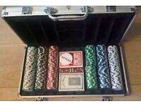 New Poker Set in Aluminium Case