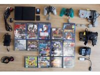 PLAYSTATION 2 PS2 SLIM LIGHT GUN 14 x GAMES GCON PACK TIME CRISIS POINT BLANK DIE HARD + MORE