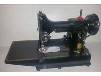 VINTAGE SINGER 222K 1955 PORTABLE SEWING MACHINE
