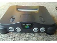 N64 + 2 controllers + games