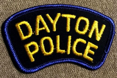 """vintage """"DAYTON POLICE"""" PATCH oh OHIO LAW ENFORCEMENT OFFICER department AWESOME"""