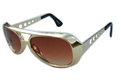 24.4ms Gold Rocker Elvis Sonnenbrille Rock n Roll - Elvis Rock N Roll Brille