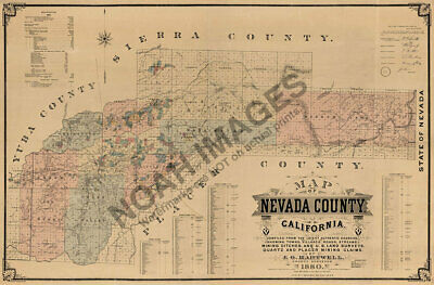 1883 CA Map Orland Orange Cove Orosi Oroville East Palmero CALIFORNIA History