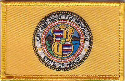 City and County of HONOLULU Flag patch Hawaii Hi (police/fire/ems)