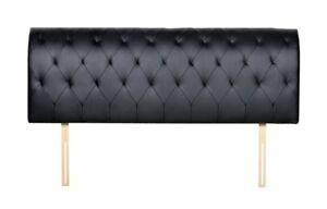 Luxury KING size black leather headboard