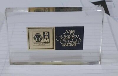 Paperweight 1982 50th anni  golden jubelee AAM malaysia  used