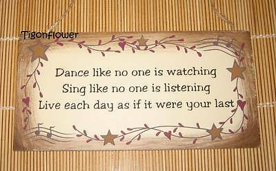 Wood Sign Plaque Decor Country Primitive Dance Sing Live Music](Country Music Decor)