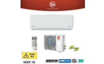 12000BTU AIR CONDITIONER MINI SPLIT 18 SEER INVERTER AC SYSTEM  HEAT PUMP 220v