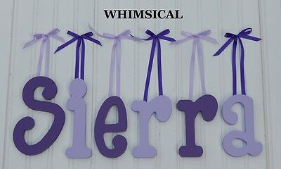 """6"""" size Painted Wooden Wall Letters Wood Children Nursery Names Whimsical"""