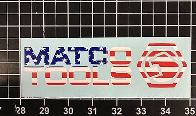 Matco Tools Decal Sticker American Flag Ratchet Wrench Socket Set Screwdriver
