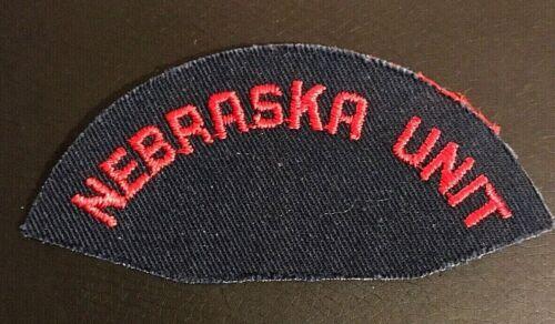 """Nebraska Unit - Vintage 4"""" x 1.75"""" Patch"""