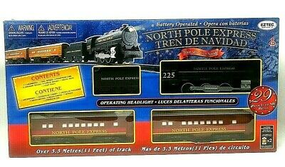 New EzTec North Pole Express Christmas Train Set brown Classic Toy Holiday polar