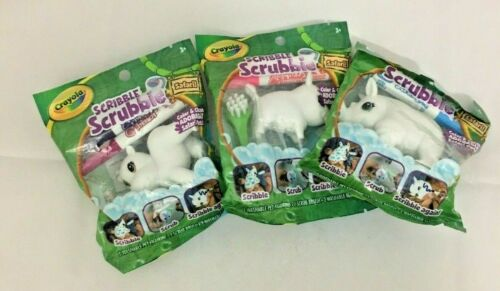 Crayola Scribble Scrubbie Pets Lot of 3 Safari & Markers Color&Clean New Sealed