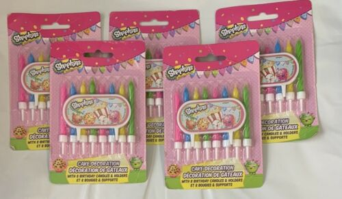 Shopkins Birthday Candles 8 ct-----Set of 5 packages