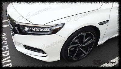 2018 - 2019 Honda Accord Head light Side Reflectors Markers Smoked Out Vinyl