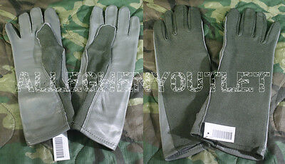 USGI Military USAF NOMEX FLYERS GLOVES Sage Green Sizes  9 11 12 NEW - Green Gloves
