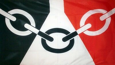 """BLACK COUNTRY 18"""" X 12"""" FLAG boats treehouses caravans clubs WEST MIDLANDS"""