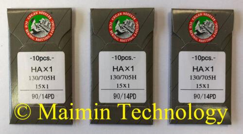 30 90/14 SHARP ORGAN TITANIUM FLAT SHANK 15X1 HAX1 HOME SEWING MACHINE NEEDLES