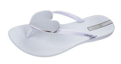 Ipanema Maxi Heart 21 Womens Flip Flops Beach Flat Sandals White