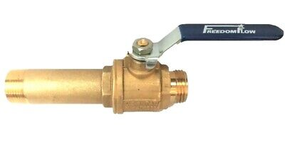 Brass Water Heater Drain Valve for Gas and Electric Water Heaters ()