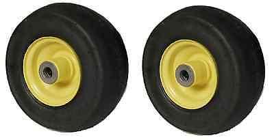 2    John Deere Am 115510 9X350x4 Caster Wheel Assembly  4 Ply  Yellow  R8550