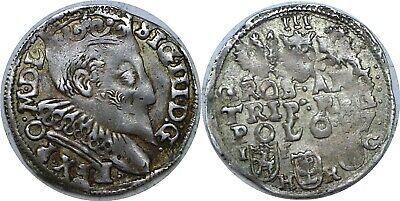 1597 Poland Sigismund III Vasa 1587-1632 Silver 3 Groschen