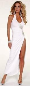 Sexy-Provocative-Halter-Top-High-Slit-Evening-Tango-Gown-w-Beaded-Applique