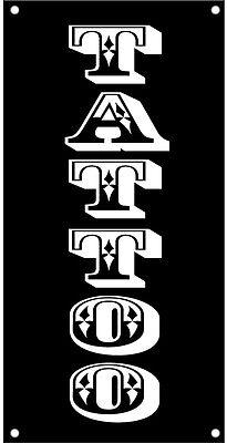Tattoo Vinyl Banner Sign Vertical 2x4 Ft - Vertical Kb