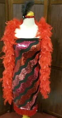 Sexy flapper roaring 20's Halloween costume 3 pc ensemble