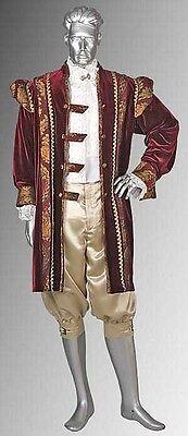 Baroque Costume Men (Renaissance Style King's Frock in Velvet and Baroque Damask Handmade and)