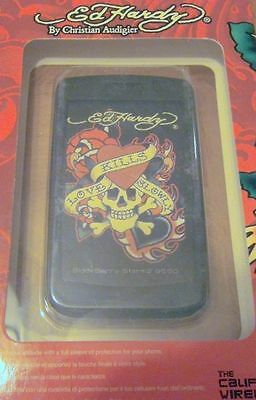 ED HARDY CHRISTIAN AUDIGIER BLACKBERRY STORM2 9550 SKIN CASE NIB NEW IN BOX
